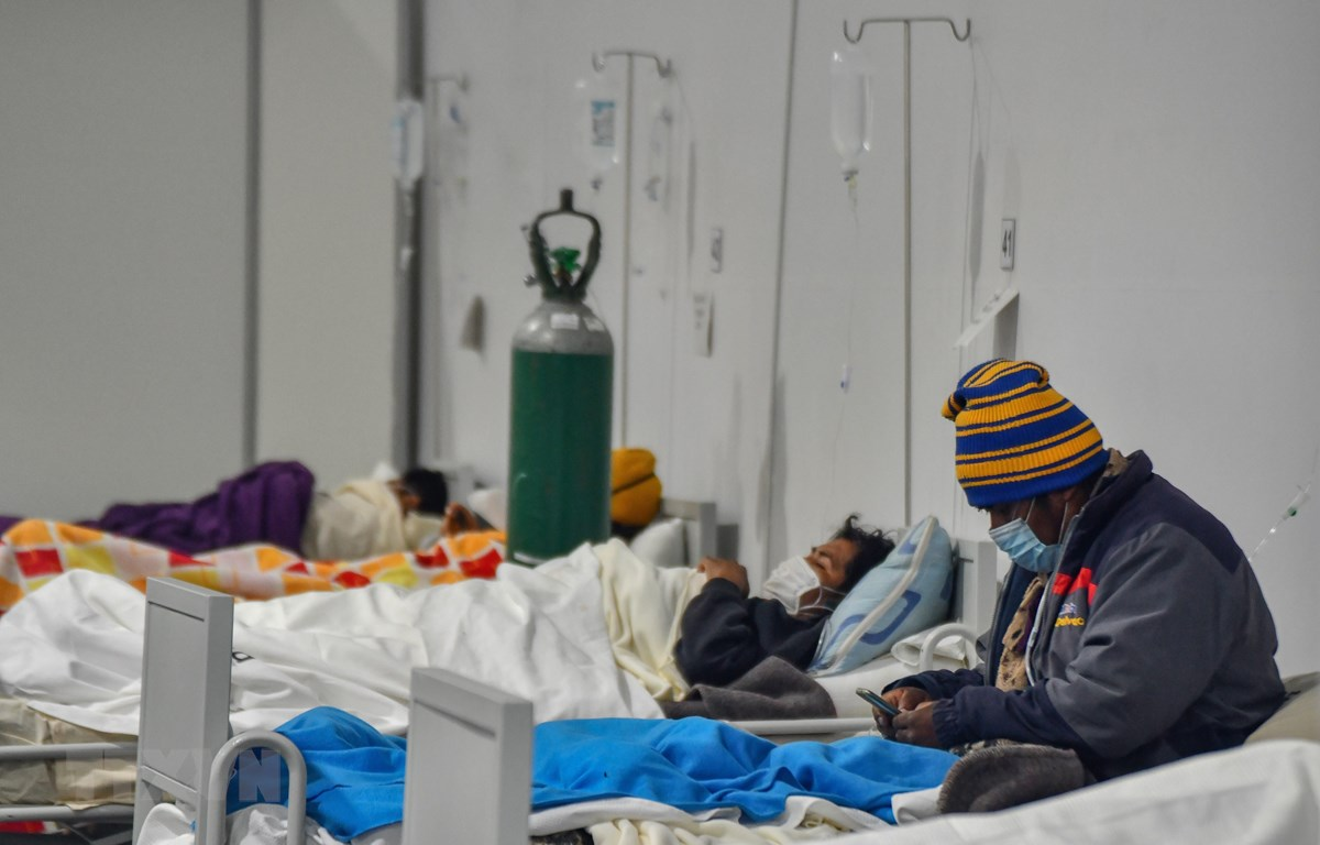 Bệnh nhân COVID-19 được điều trị tại bệnh viện ở Arequipa, Peru, ngày 23/7/2020. (Ảnh: AFP/ TTXVN)