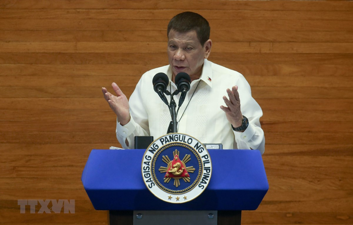 Tổng thống Phlippines Rodrigo Duterte. (Ảnh: AFP/TTXVN)