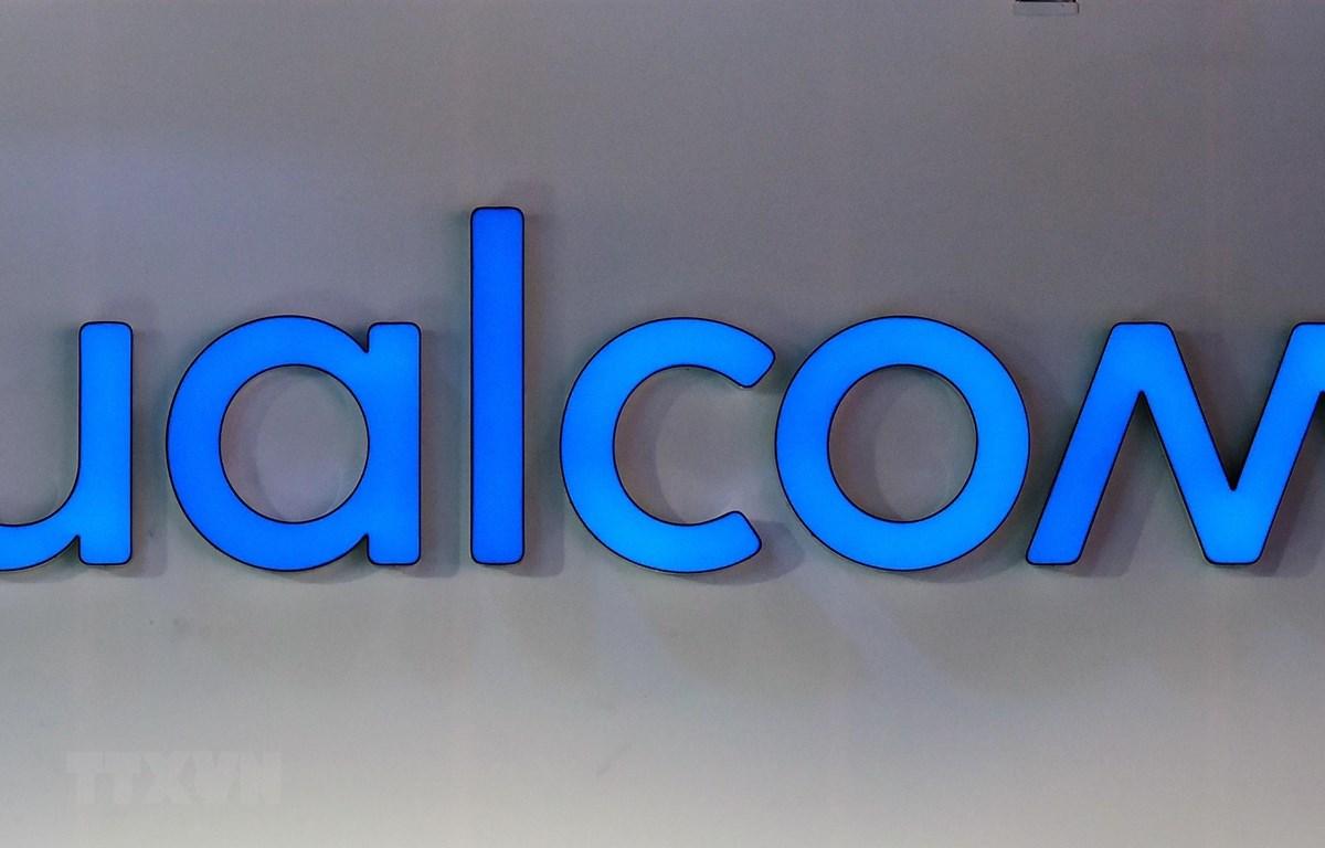Biểu tượng Qualcomm tại Triển lãm điện tử tiêu dùng (CES) ở Las Vegas, Nevada, Mỹ, ngày 12/1/2018. (Ảnh: AFP/TTXVN)