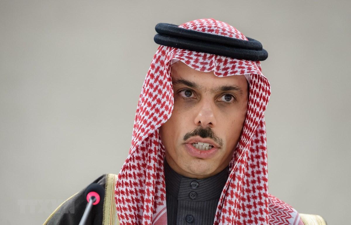 Ngoại trưởng Saudi Arabia Faisal Bin Farhan al Saud. (Ảnh: AFP/TTXVN)