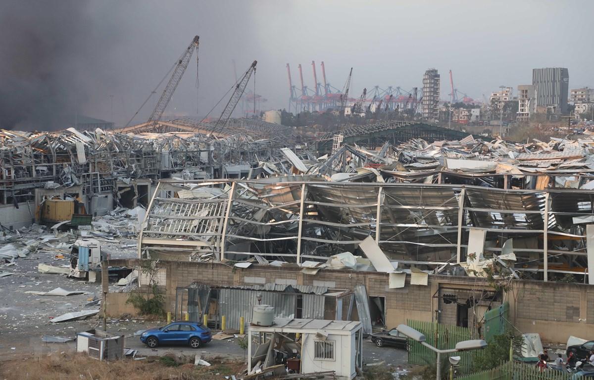 Nhà cửa bị phá hủy sau vụ nổ ở Beirut, Liban ngày 4/8/2020. (Ảnh: THX/TTXVN)
