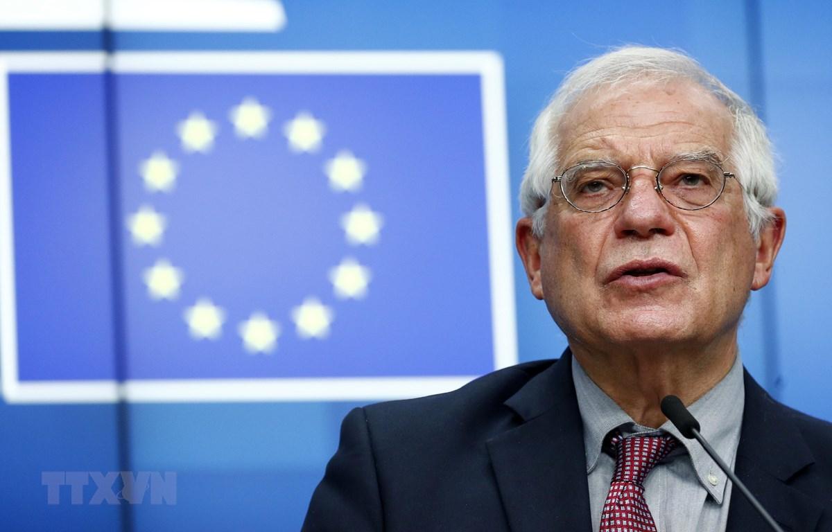Đại diện cấp cao EU về chính sách an ninh và đối ngoại Josep Borrell tại cuộc họp ở Brussels, Bỉ. (Ảnh: AFP/TTXVN)
