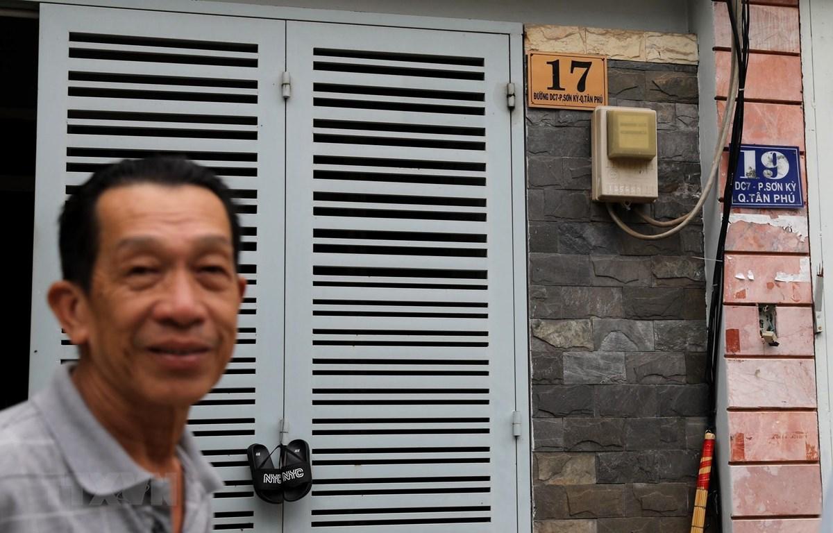 Công tơ điện của khách hàng tại khu vực do Công ty Điện lực Tân Phú (Tổng Công ty Điện lực TP Hồ Chí Minh) quản lý. (Ảnh: Ngọc Hà/TTXVN)