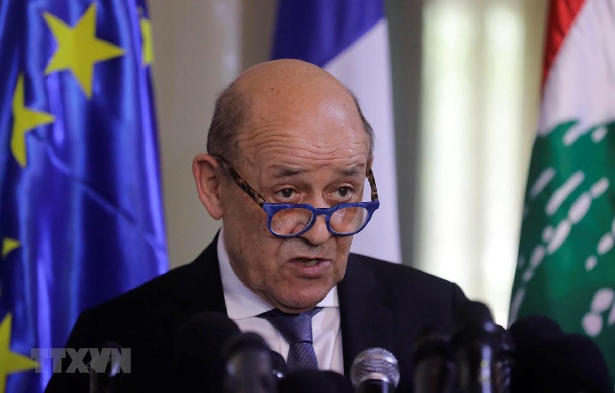 Ngoại trưởng Pháp Jean-Yves Le Drian. (Ảnh: AFP/TTXVN)