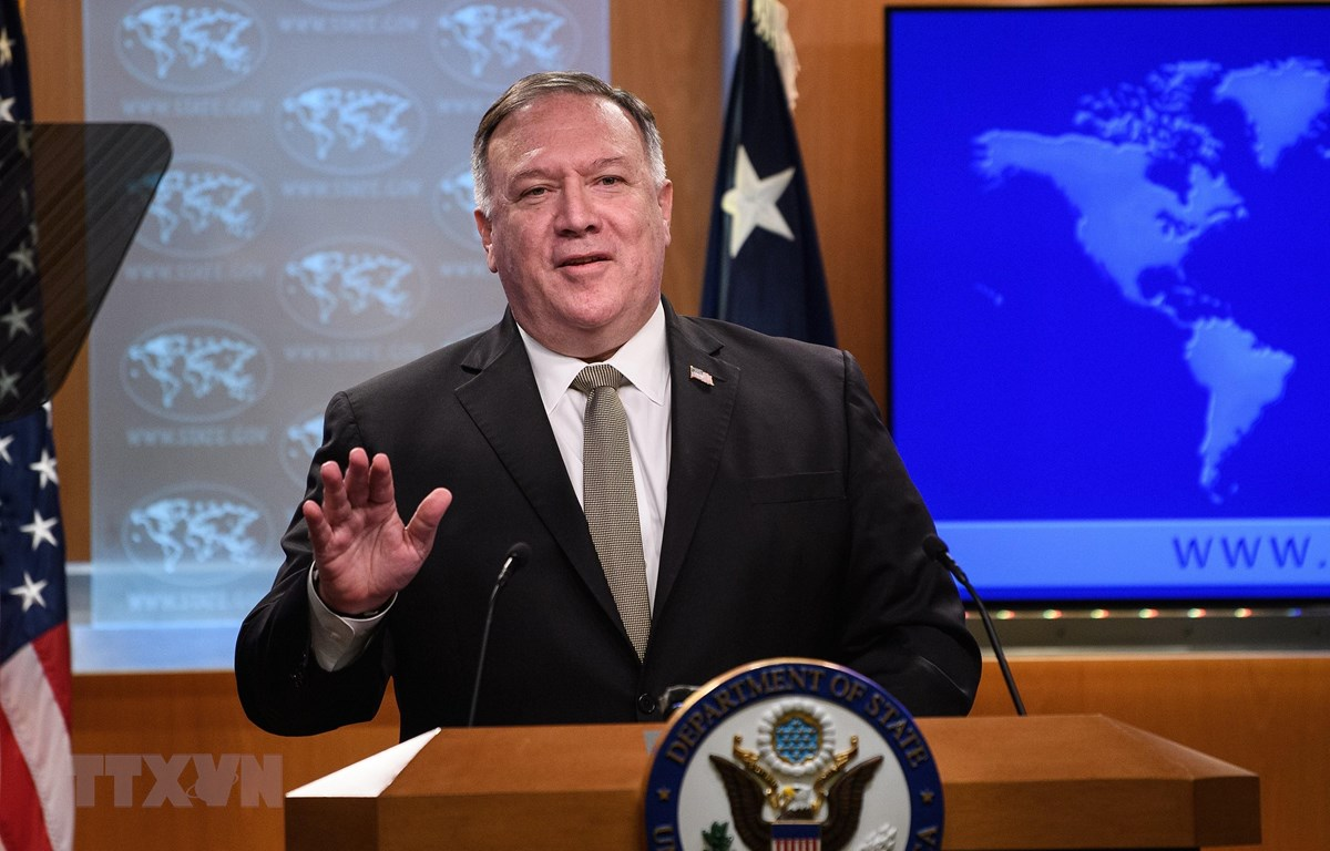 Ngoại trưởng Mỹ Mike Pompeo phát biểu tại cuộc họp báo ở Washington, DC ngày 2/9/2020. (Ảnh: AFP/TTXVN)