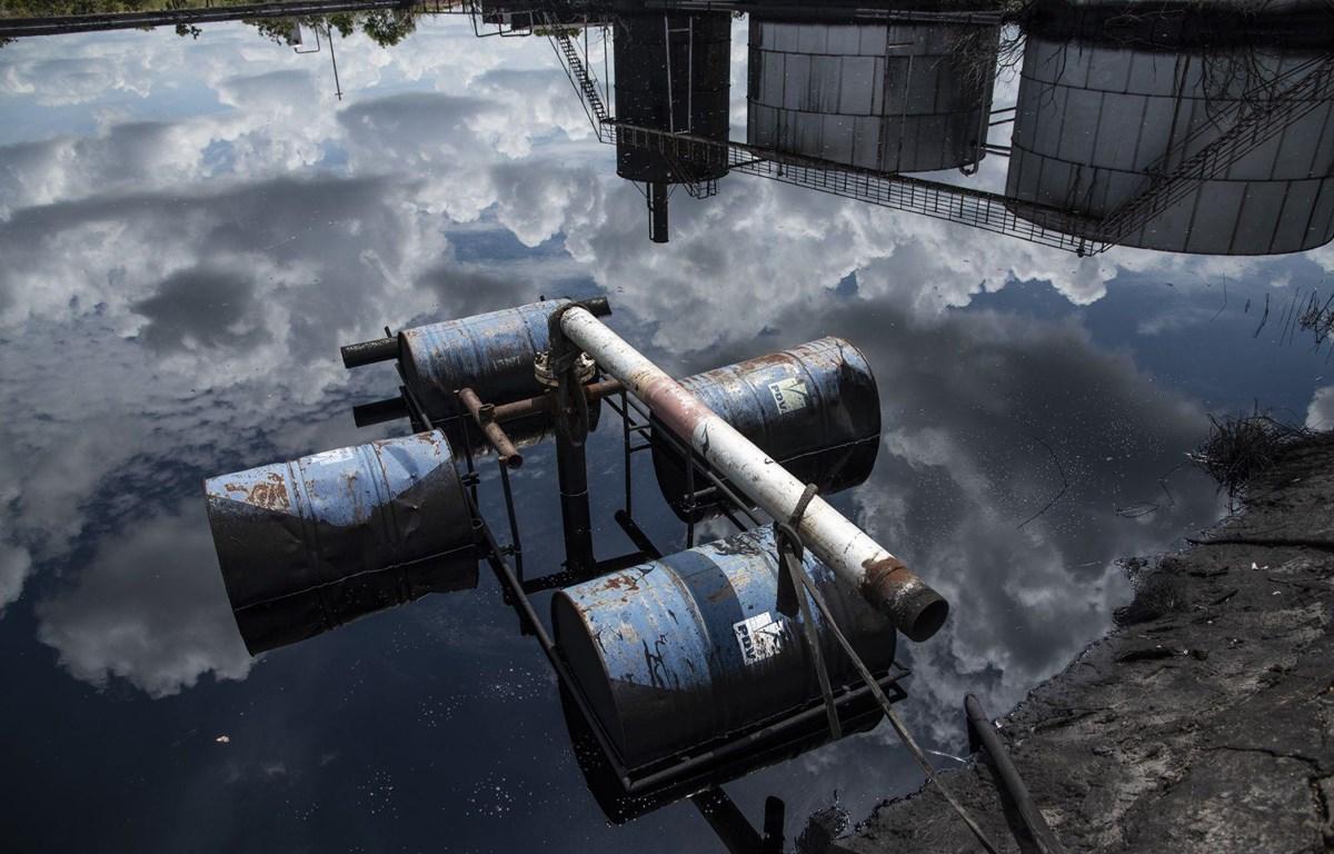 Vụ tràn dầu tại Vành đai Orinoco, gần El Tigre ở bang Anzoategui, Venezuela ngày 12/10/2018. Ảnh minh họa. (Nguồn:Bloomberg)