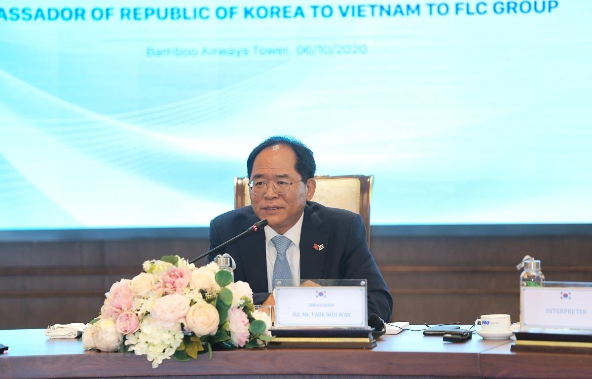 Đại sứ Hàn Quốc tại Việt Nam Park Noh Wan. (Ảnh: PV/Vietnam+)