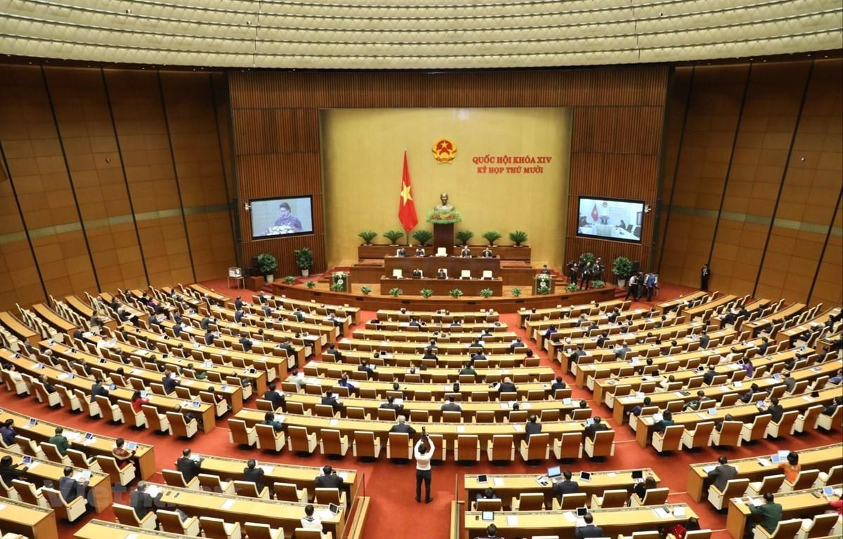Toàn cảnh kỳ họp thứ 10 Quốc hội khóa XIV tại Hà Nội. (Nguồn: TTXVN)