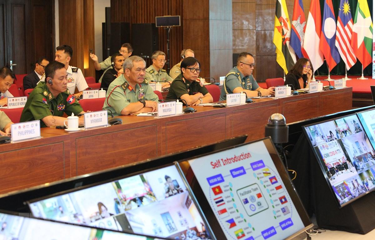 Quân y các nước ASEAN diễn tập trực tuyến cơ chế phòng, chống dịch COVID-19 ngày 27/5/2020. (Ảnh minh họa: Dương Giang/TTXVN)