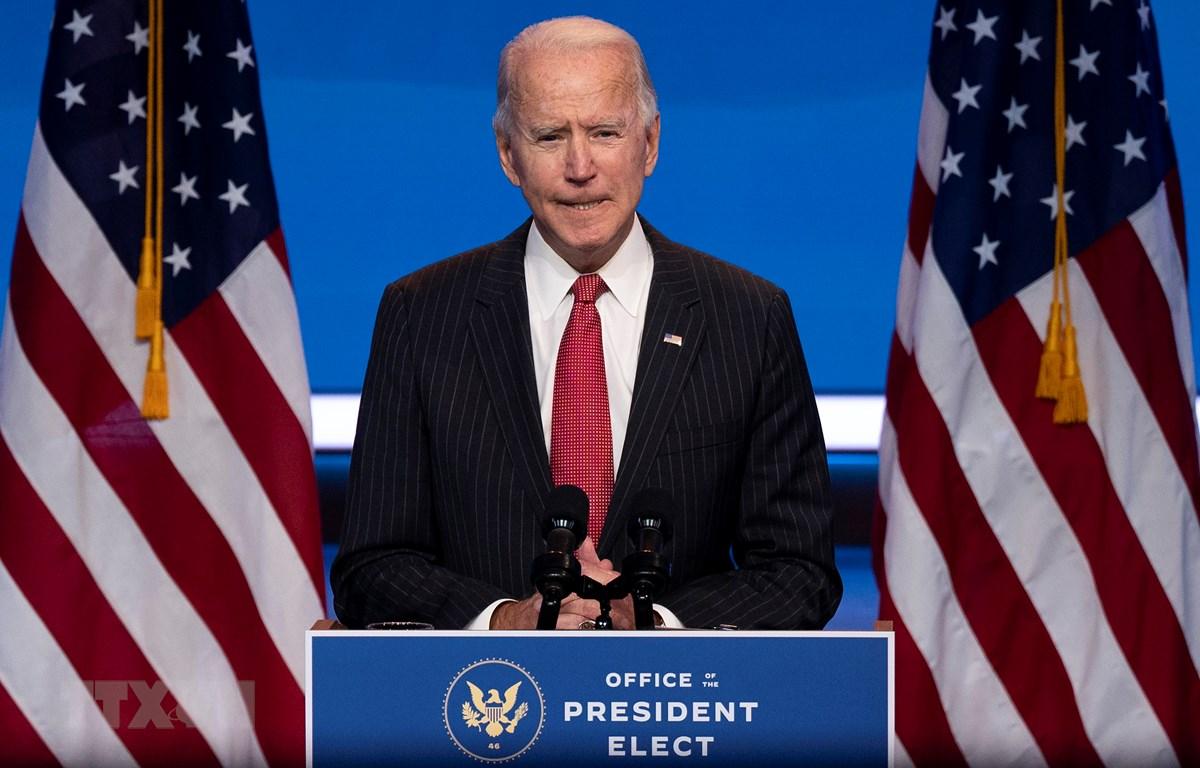 Ông Joe Biden phát biểu tại Wilmington, Delaware, Mỹ, ngày 19/11/2020. (Ảnh: AFP/TTXVN)