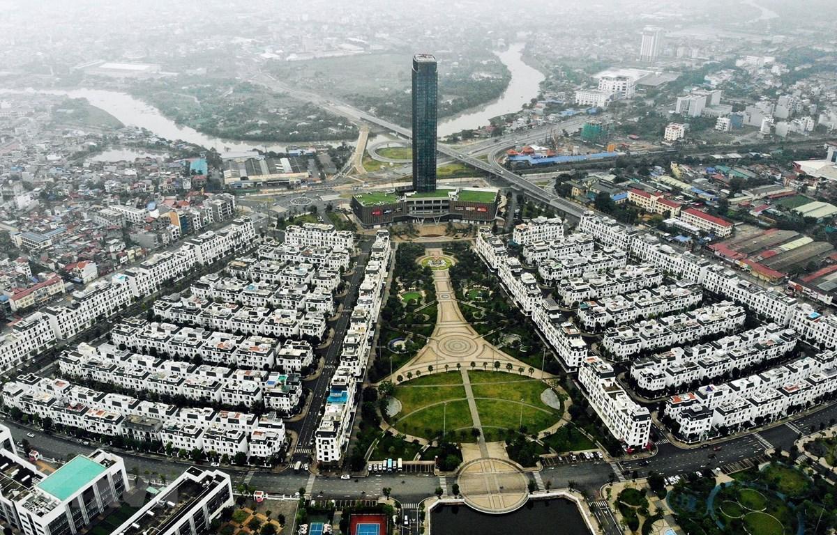Khu quảng trường trung tâm Khu đô thị Vinhomes Imperia Hải Phòng. (Ảnh: Danh Lam/TTXVN)