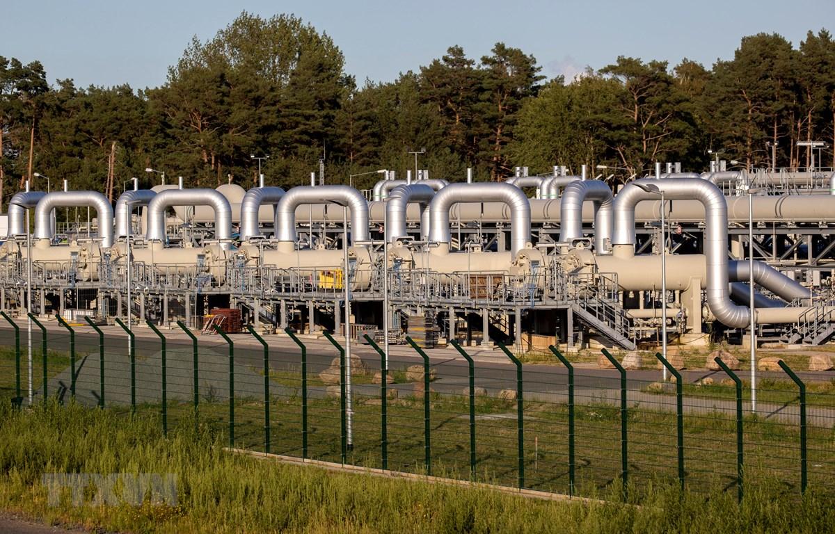 Đường ống dẫn khí đốt thuộc dự án Dòng chảy phương Bắc 2 (Nord Stream 2) tại Lubmin, Đức ngày 7/9/2020. (Ảnh: AFP/TTXVN)