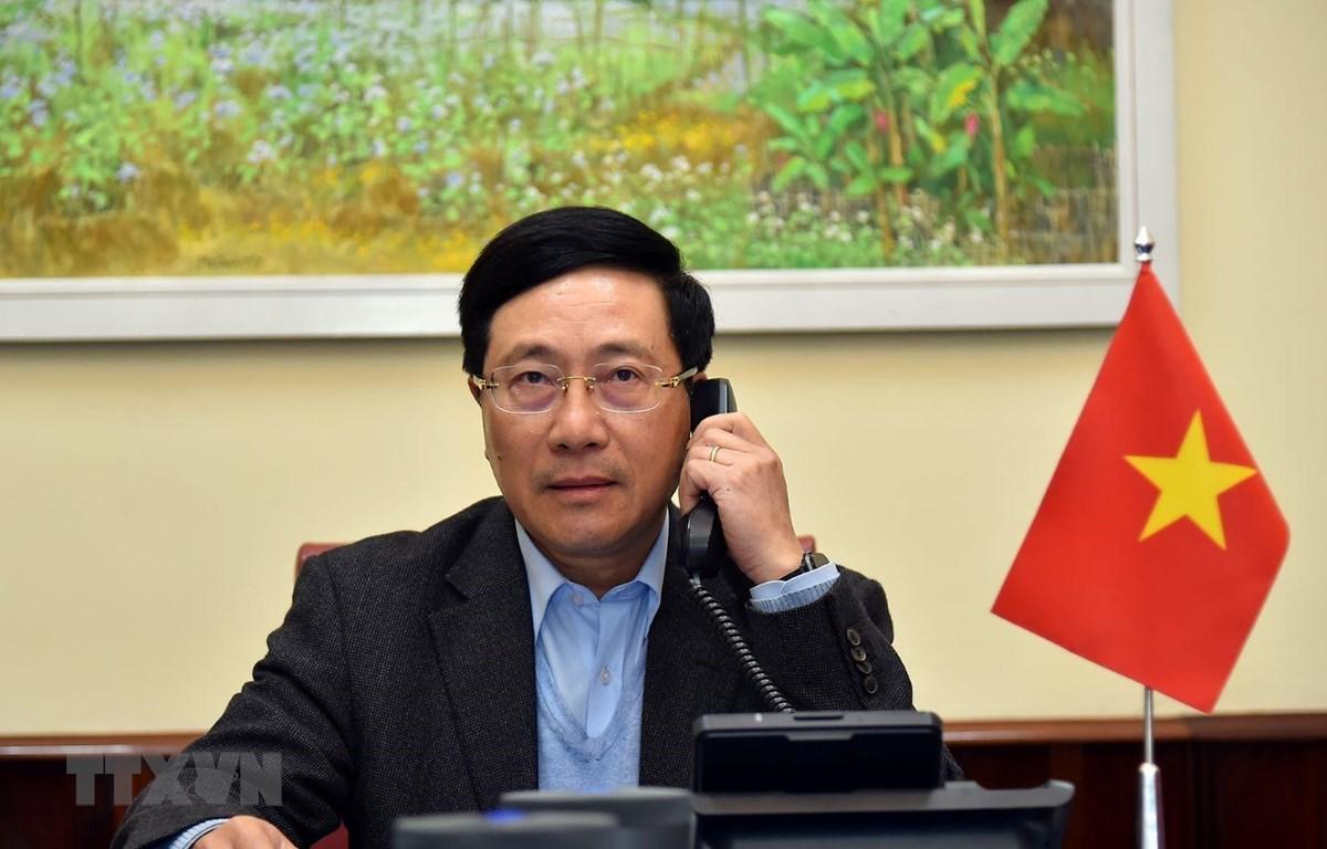 Phó Thủ tướng, Bộ trưởng Bộ Ngoại giao Phạm Bình Minh. (Ảnh: TTXVN phát)