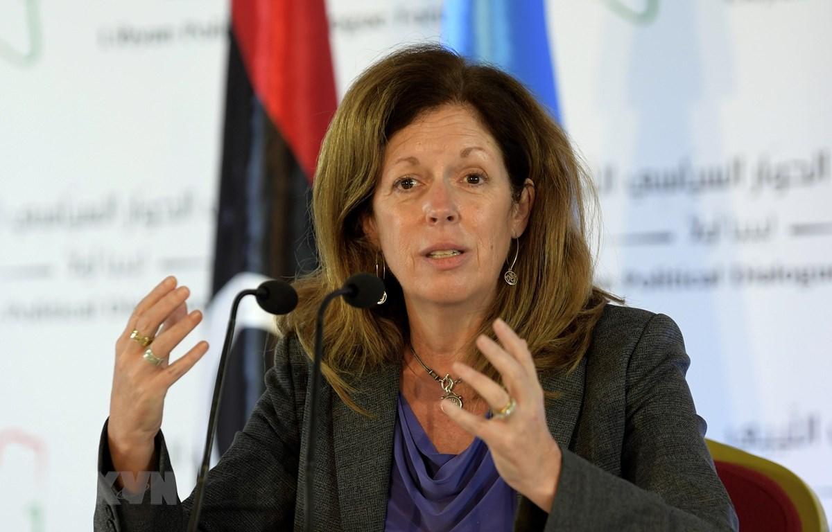Bà Stephanie Williams, quyền đặc phái viên của Tổng Thư ký LHQ tại Libya. (Ảnh: AFP/TTXVN)