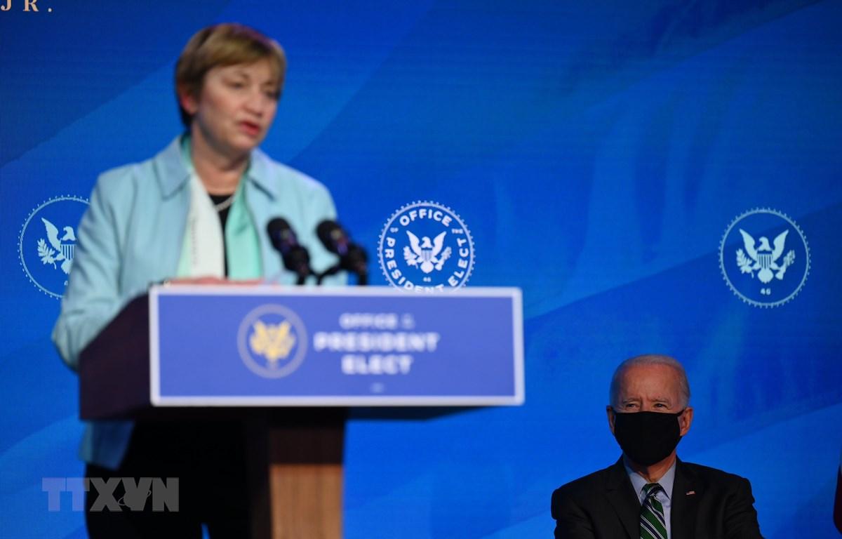 Tổng thống đắc cử Mỹ Joe Biden lựa chọn bà Maria Zuber (trong ảnh) đồng Chủ tịch Hội đồng Cố vấn của Tổng thống về khoa học và công nghệ. (Ảnh: AFP/TTXVN)