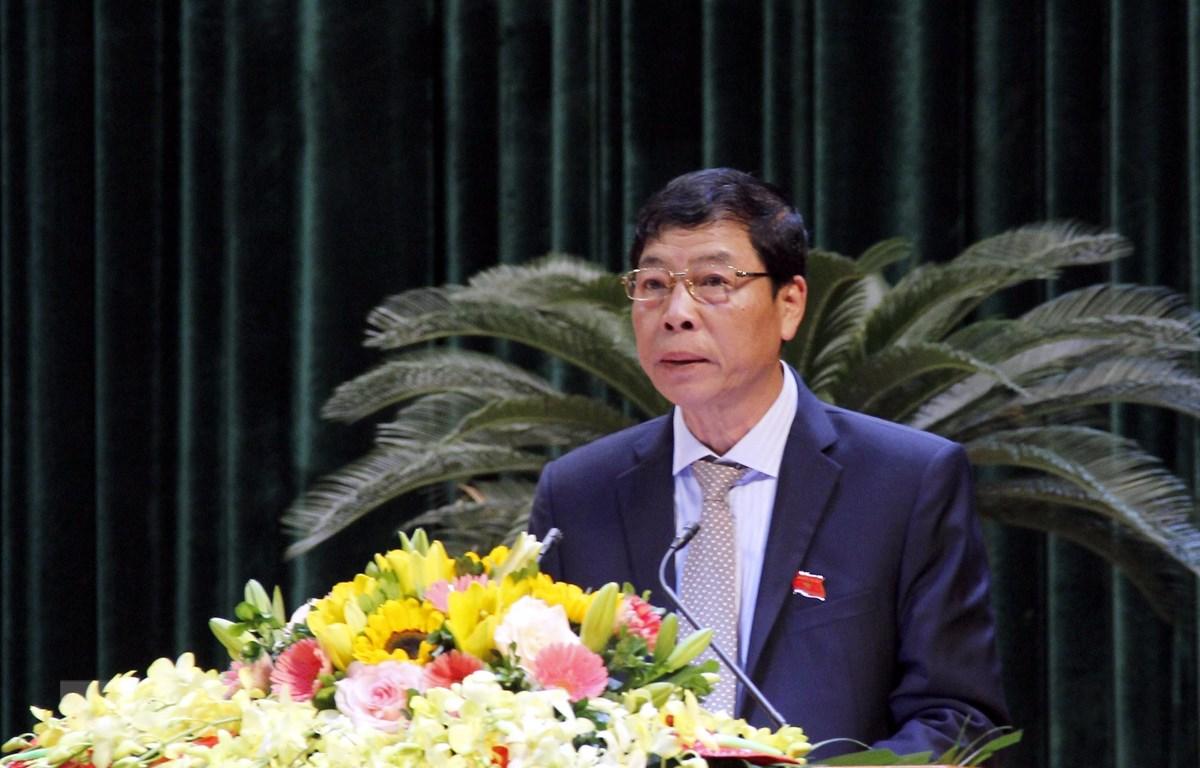 Ủy ban Thường vụ Quốc hội phê chuẩn kết quả miễn nhiệm chức vụ Chủ tịch Hội đồng nhân dân tỉnh Bắc Giang khóa XVIII, nhiệm kỳ 2016-2021. (Ảnh: Đồng Thúy/TTXVN)