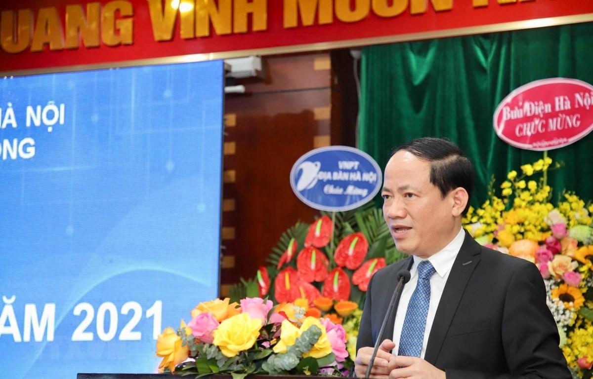 Thứ trưởng Bộ Thông tin và Truyền thông Phạm Anh Tuấn phát biểu tại Hội nghị. (Ảnh: Nguyễn Thắng/TTXVN)