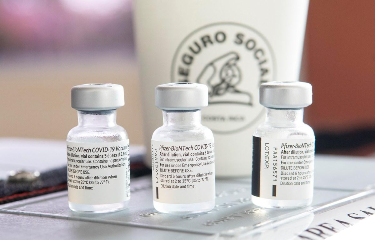 Vắcxin ngừa COVID-19 của Pfizer/BioNTech tại một trung tâm y tế ở Cartago, Costa Rica ngày 12/1/2021. (Ảnh: AFP/TTXVN)