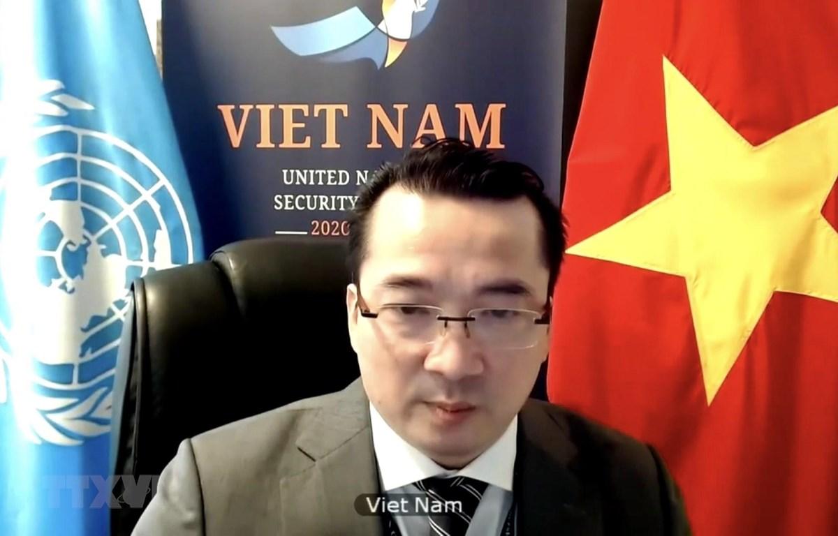 Đại sứ Phạm Hải Anh, Đại biện lâm thời của Việt Nam tại LHQ. (Ảnh: Hữu Thanh/TTXVN)