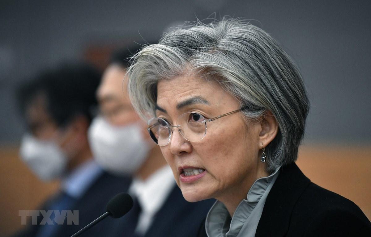 Ngoại trưởng Hàn Quốc Kang Kyung-wha. (Ảnh: AFP/TTXVN)