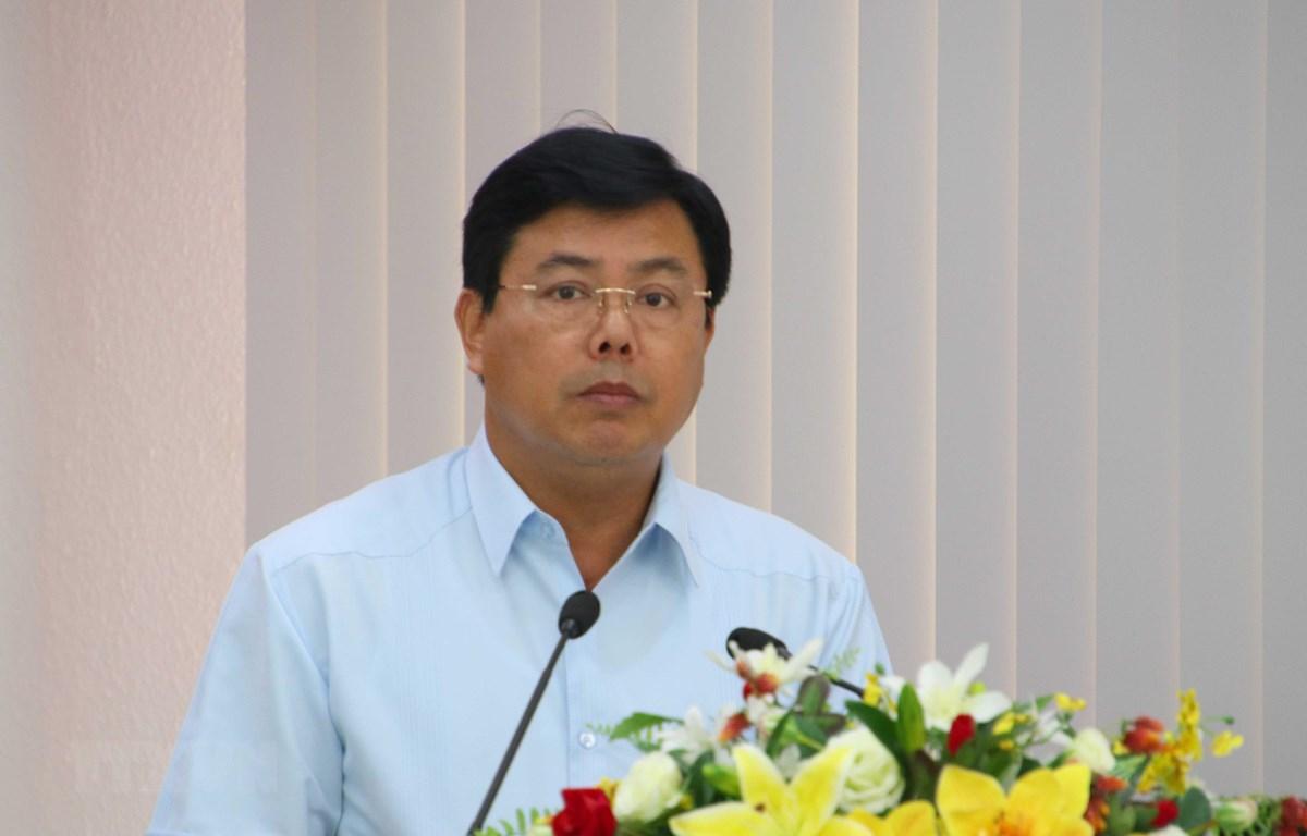 Bí thư Tỉnh ủy Cà Mau Nguyễn Tiến Hải được bầu làm Chủ tịch HĐND tỉnh khóa  IX, nhiệm kỳ 2016-2021. (Ảnh:Kim Há/TTXVN)
