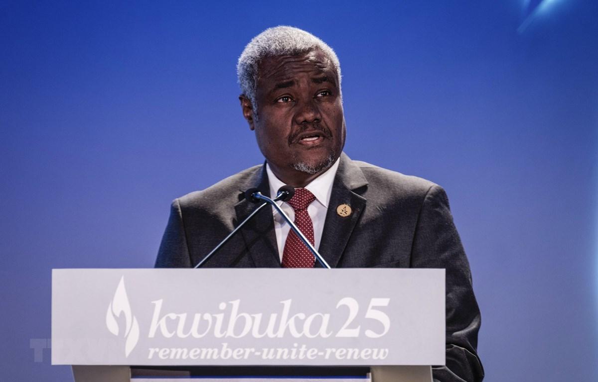 Chủ tịch Ủy ban AU Moussa Faki Mahamat tái đắc cử. (Ảnh: AFP/TTXVN)