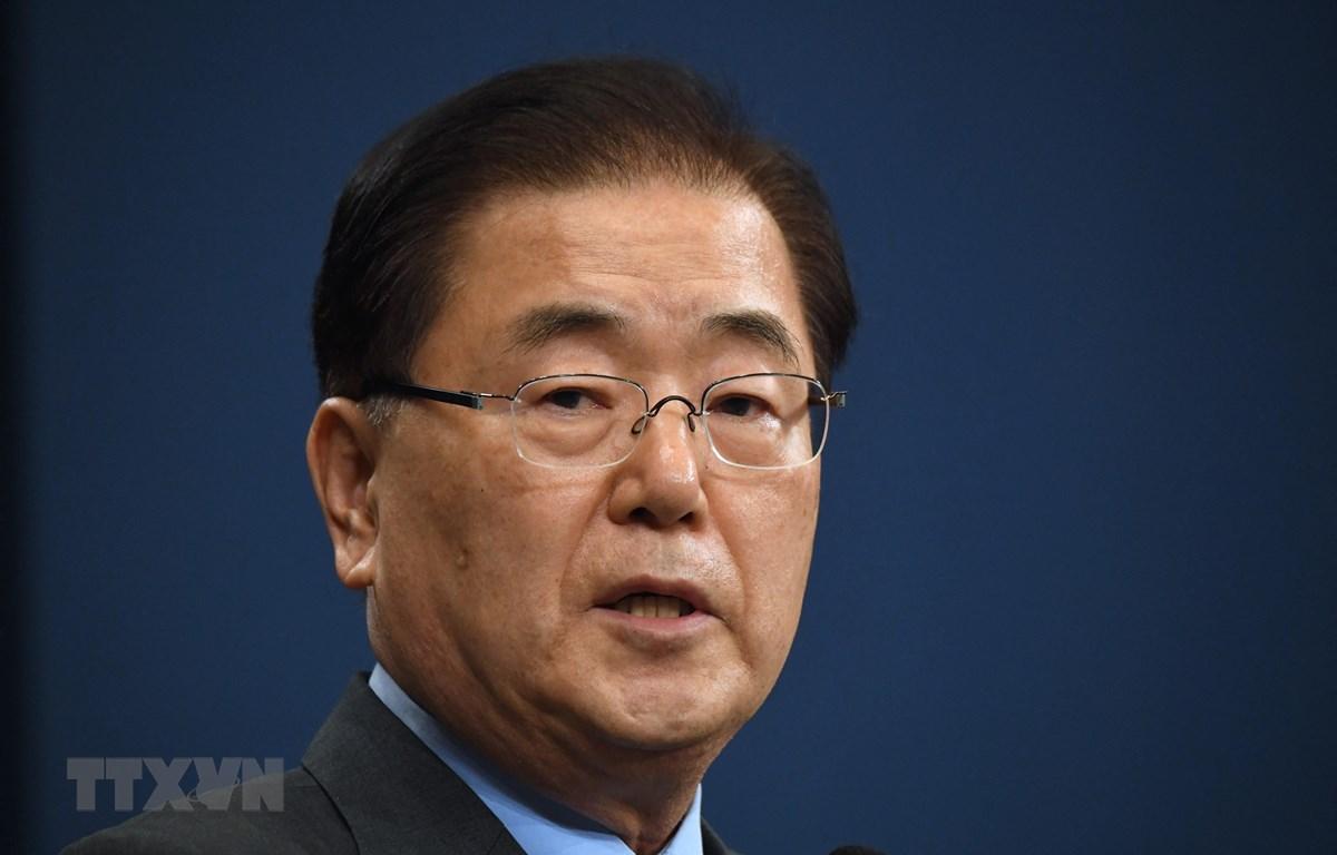 Ngoại trưởng Hàn Quốc Chung Eui-yong. (Ảnh: AFP/TTXVN)