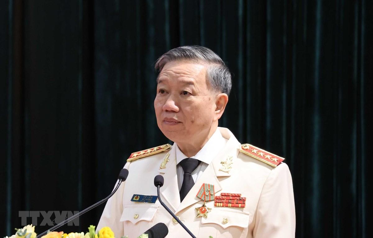Đại tướng Tô Lâm, Ủy viên Bộ Chính trị, Bộ trưởng Bộ Công an. (Ảnh: Thống Nhất/TTXVN)
