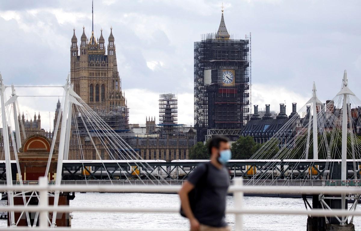 Cảnh vắng vẻ tại London, Anh, do đại dịch COVID-19 ngày 24/8/2020. (Ảnh: AFP/TTXVN)