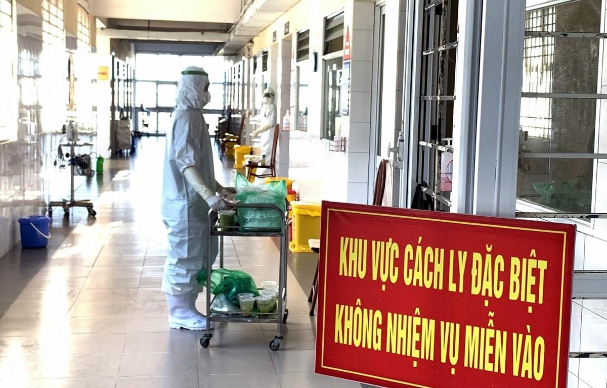 Khu vực cách ly tại Bệnh viện dã chiến số 2 (thành phố Hạ Long, tỉnh Quảng Ninh). (Nguồn: TTXVN phát)