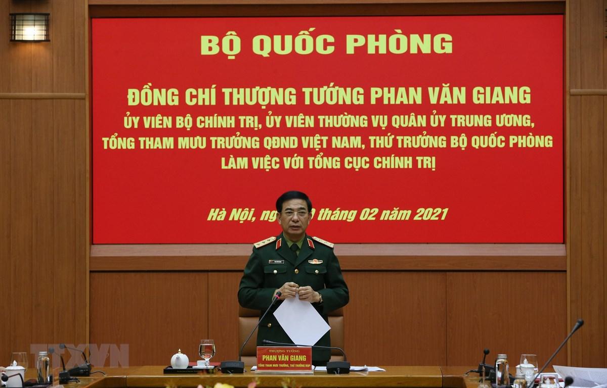 Thứ trưởng Bộ Quốc phòng Phan Văn Giang. (Ảnh: TTXVN phát)
