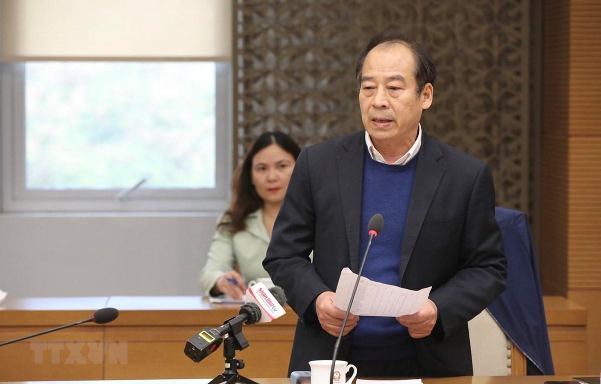 PGS.TS Trần Đắc Phu, nguyên Cục trưởng Cục Y tế dự phòng (Bộ Y tế) phát biểu. (Ảnh: Minh Quyết/TTXVN)