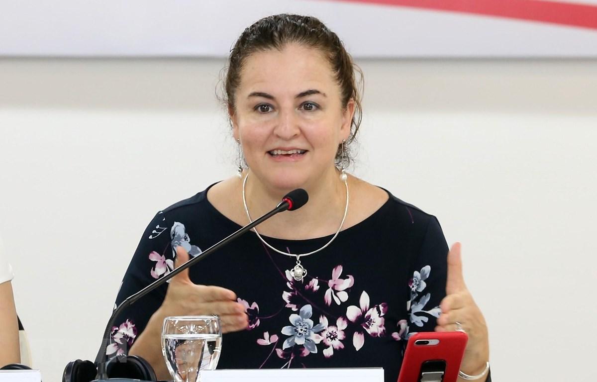 Bà Elisa Fernandez Saenz, Trưởng đại diện UN Women tại Việt Nam. (Ảnh: Anh Tuấn/TTXVN)