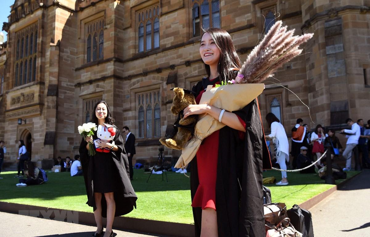 Sinh viên quốc tế tại trường đại học ở Sydney, Australia. (Ảnh: AFP/TTXVN)