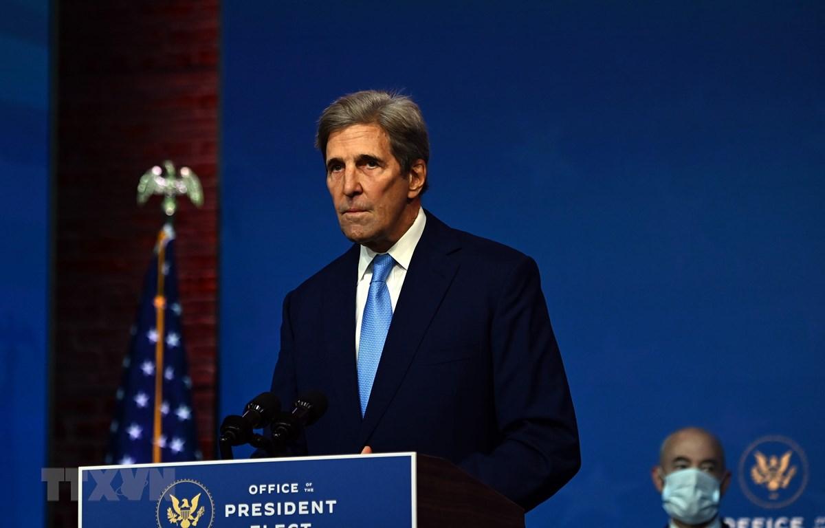 Ông John Kerry phát biểu tại Wilmington, Delaware, Mỹ, ngày 24/11/2020. (Ảnh: AFP/ TTXVN)