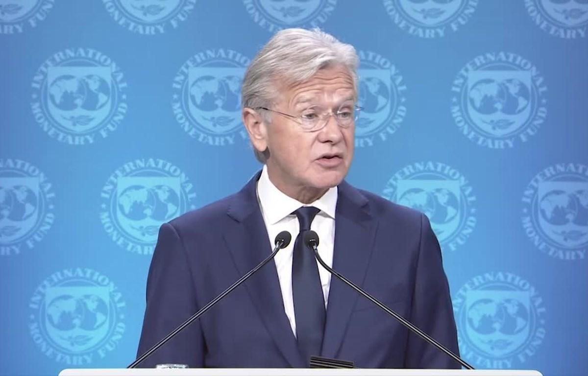 Người phát ngôn IMF Gerry Rice. (Nguồn: IMF)