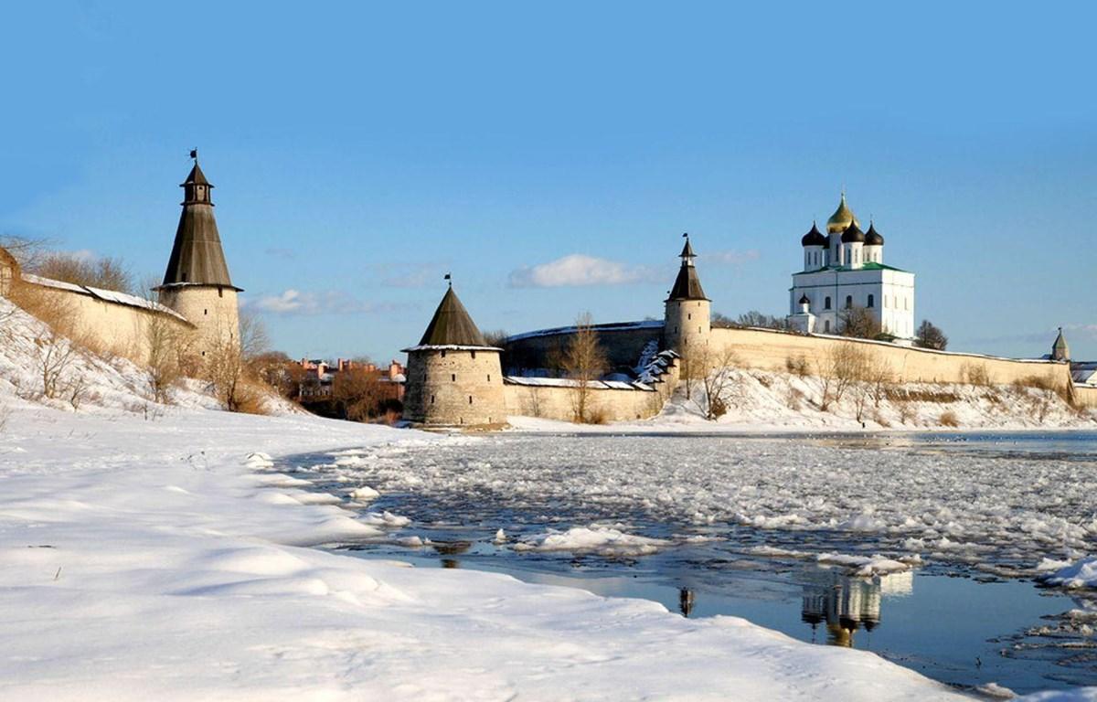 Sông Velikaya mùa Đông. (Nguồn: Getty)