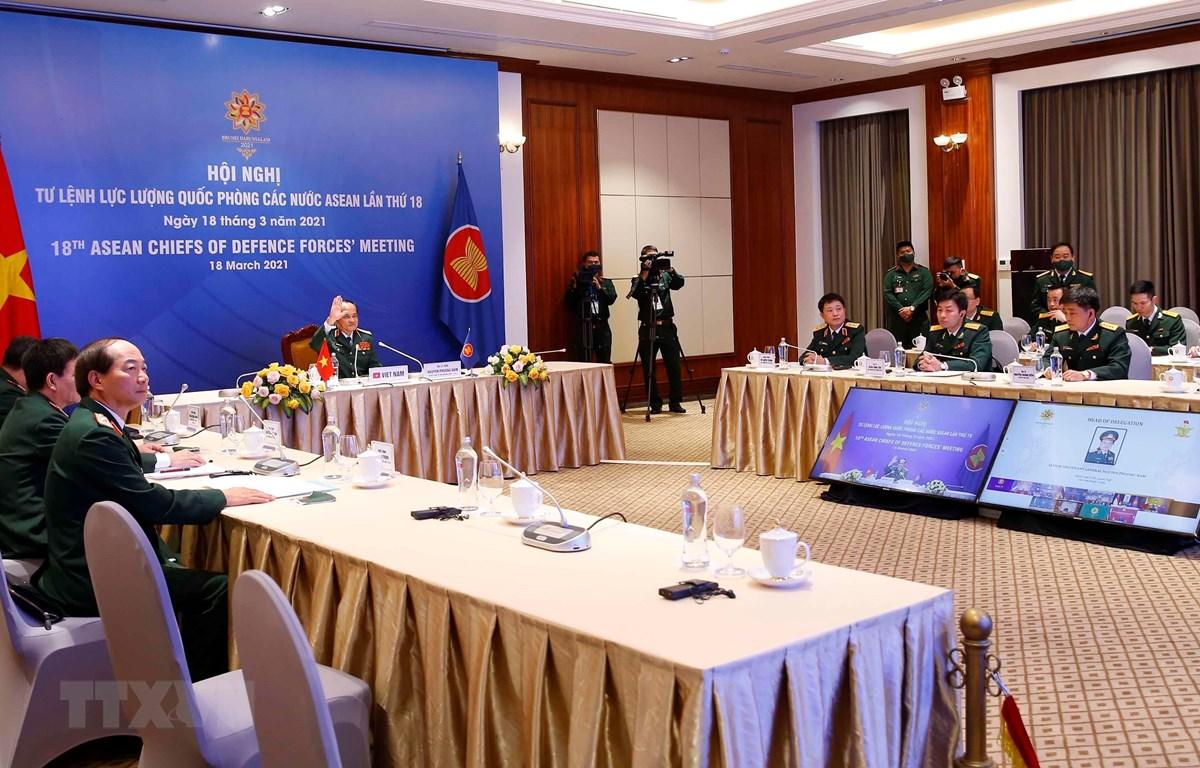 Quang cảnh Hội nghị Tư lệnh Lực lượng Quốc phòng các nước ASEAN lần thứ 18. (Ảnh: Doãn Tuấn/TTXVN)