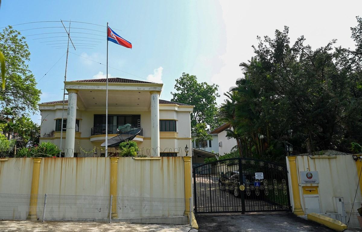 Đại sứ quán Triều Tiên tại Kuala Lumpur, Malaysia ngày 19/3/2021. (Ảnh: AFP/TTXVN)