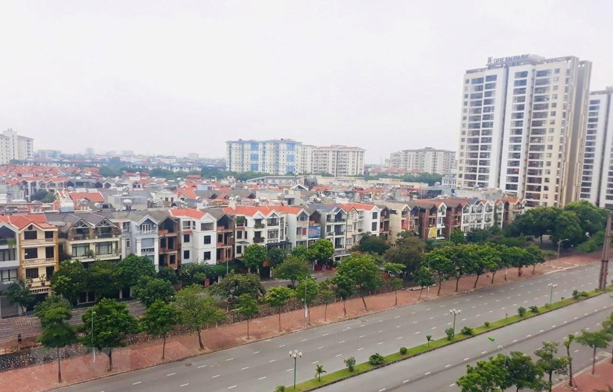 Dự án HanHomes Giang Biên (quận Long Biên, Hà Nội). (Ảnh: Minh Nghĩa/TTXVN)