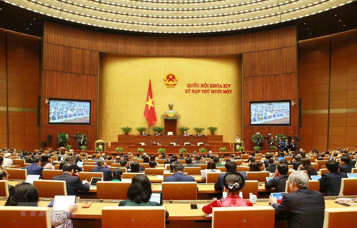 Quang cảnh Kỳ họp thứ 11, Quốc hội khóa XIV. (Ảnh: Phương Hoa/TTXVN)