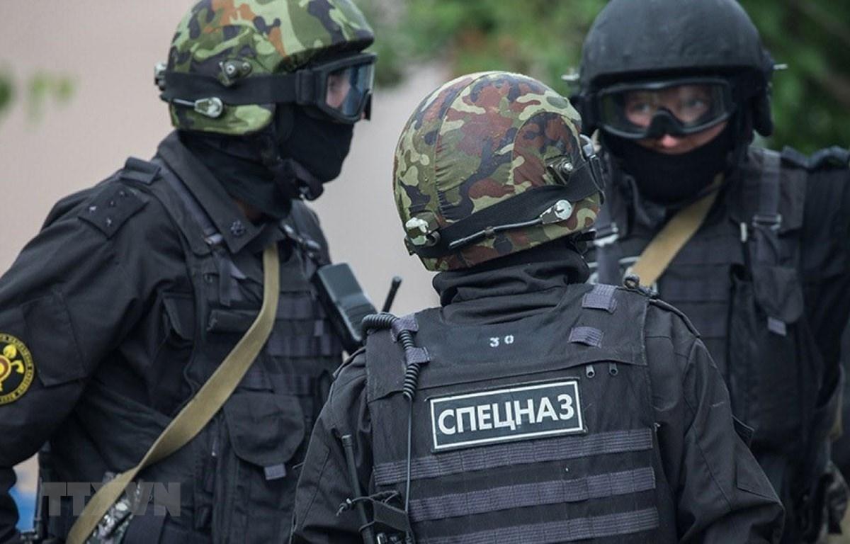 Lực lượng an ninh Liên bang Nga ngăn chặn thành công âm mưu khủng bố ở thành phố Tambov ngày 25/12/2020. (Ảnh: TASS/TTXVN)