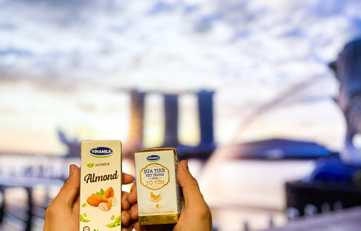 Các dòng sản phẩm mới như sữa tươi, sữa hạt được Vinamilk tích cực đẩy mạnh tại các thị trường mới như Singapore, Hàn Quốc. (Nguồn: Vinamilk)
