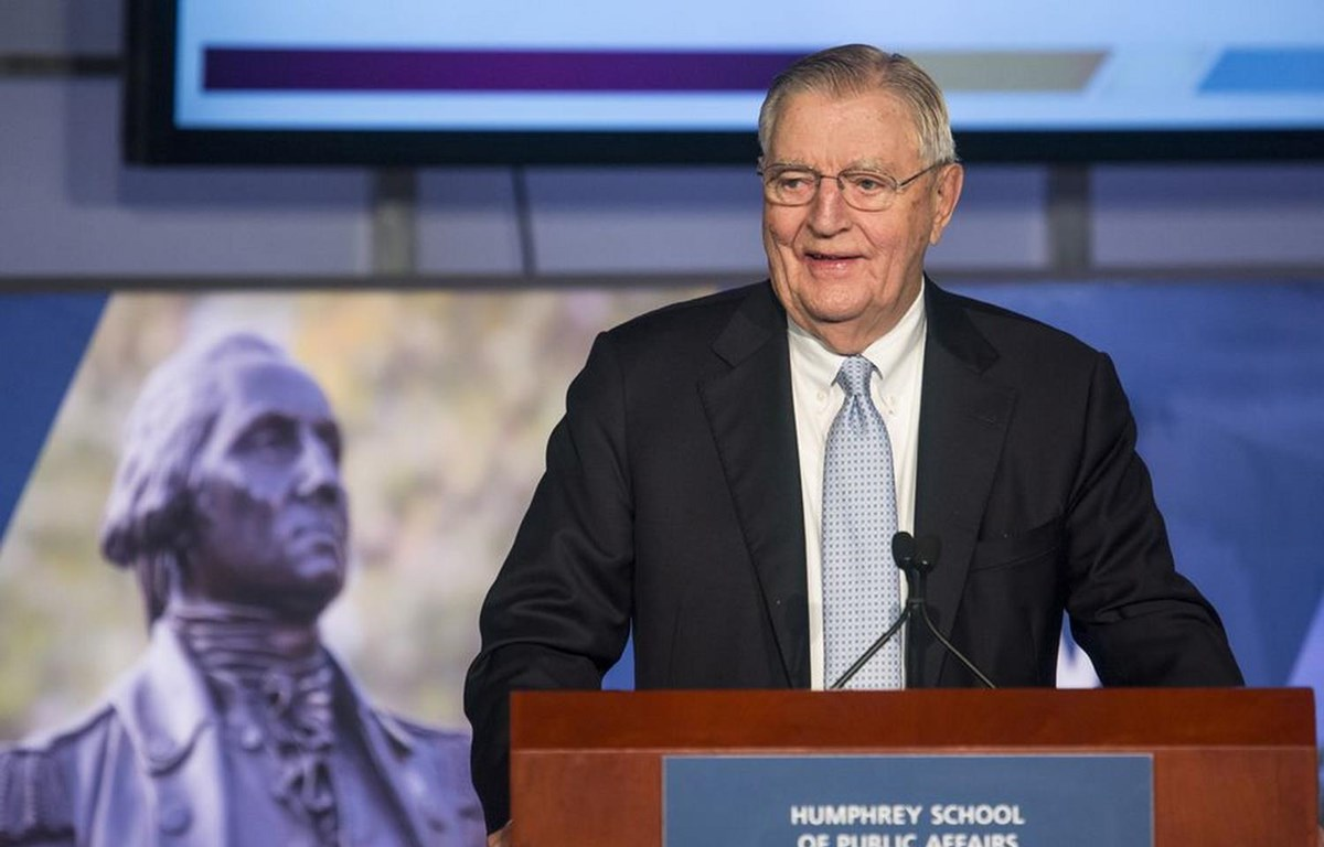 Cựu Phó Tổng thống Mỹ Walter Mondale. (Nguồn: Reuters)