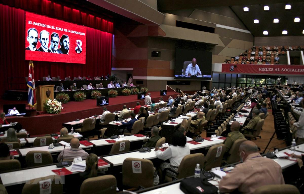 Toàn cảnh Đại hội lần thứ VIII Đảng Cộng sản Cuba tại La Habana, ngày 18/4/2021. (Ảnh: AFP/TTXVN)
