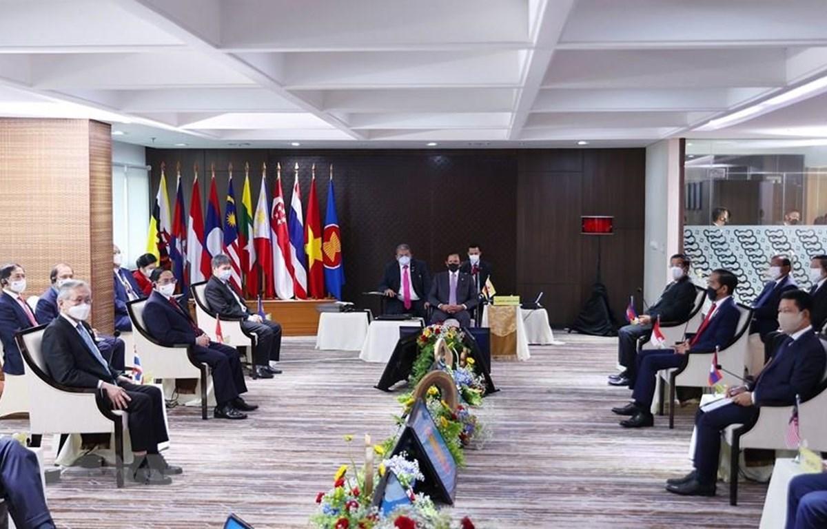 Toàn cảnh Hội nghị các Nhà lãnh đạo ASEAN. (Ảnh: Dương Giang/TTXVN)