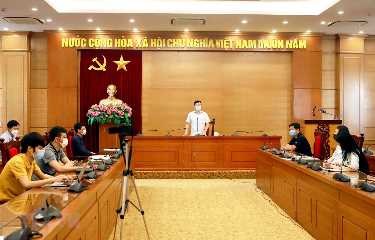 Quang cảnh buổi họp báo. (Ảnh: Hoàng Hùng/TTXVN)