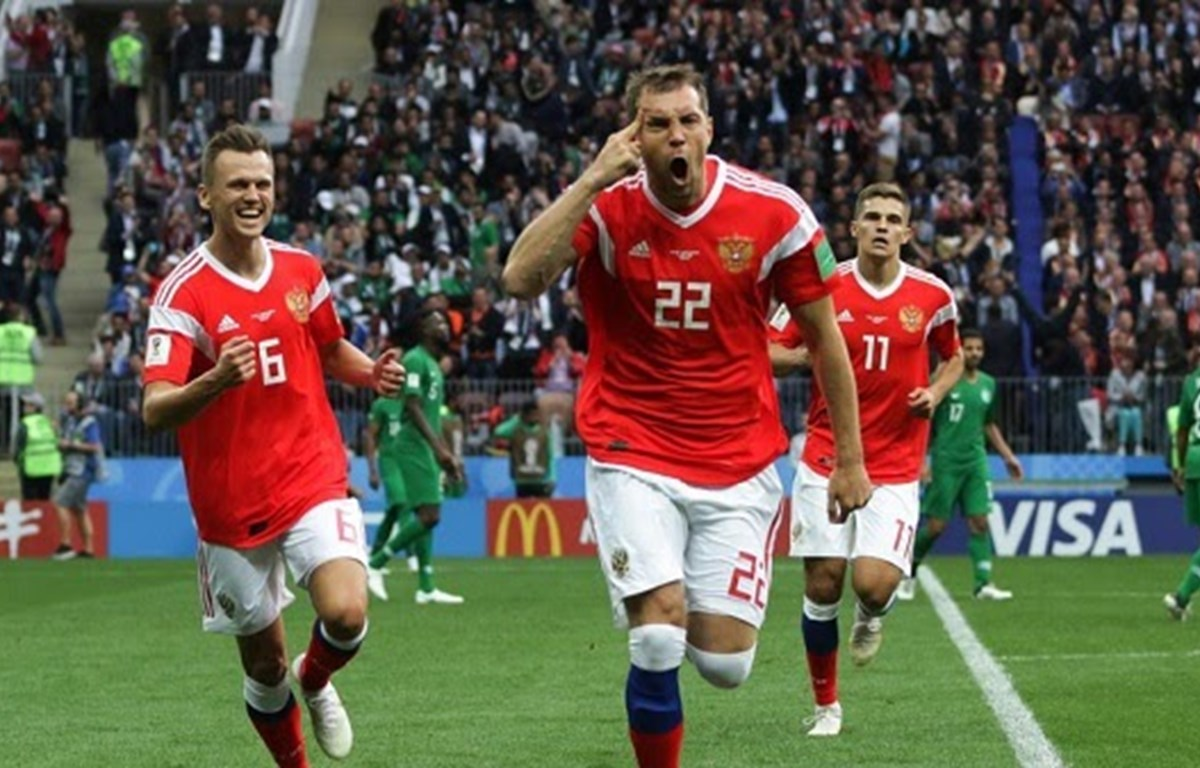 Các cầu thủ Nga. (Nguồn: sports-prediction.net)