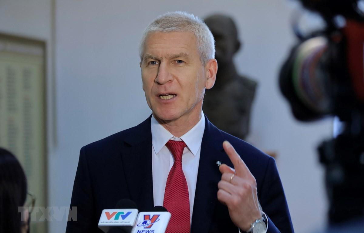 Bộ trưởng Thể thao Liên bang Nga Oleg Matytsin. (Ảnh: Trần Hiếu/TTXVN)