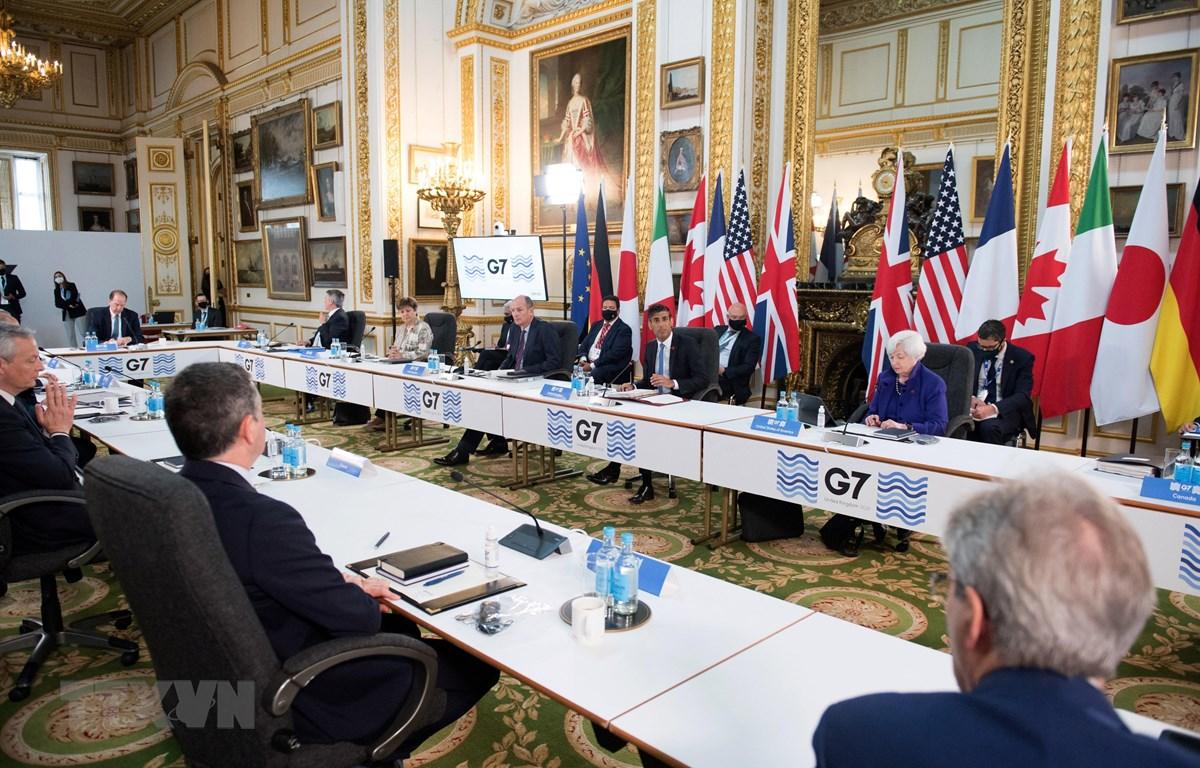 Toàn cảnh Hội nghị Bộ trưởng Tài chính G7 ở London, Anh ngày 4/6/2021. (Ảnh: AFP/TTXVN)